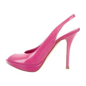 Christian Dior Pink Patent Leather Pumps 40/10